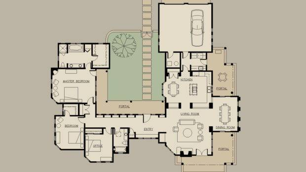 Shaped Ranch Floor Plans House Home Design Ideas