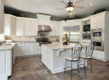 Shaped White Kitchen Counter Tops Darker Neutral Toned