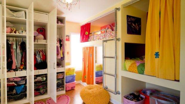 Shared Bedroom Three Girls Kids Room Ideas Playroom
