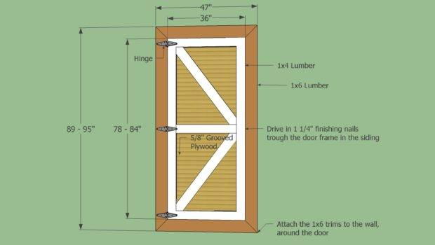 Shed Door Designs Demand Plans Fast Outline