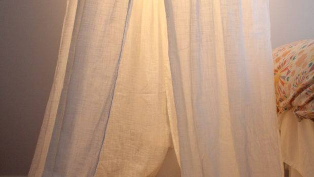 Sheer Canopy Bed Drapes Post Curtain