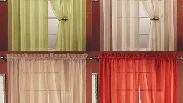Sheer Voile Window Curtain Panel Colors Great