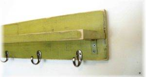 Shelf Hooks Funky Lime Green Color Shabby Chic Fall Inches