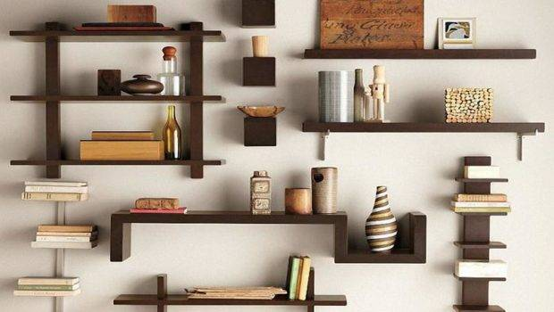 Shelving Cool Unique Wall Ideas Spine