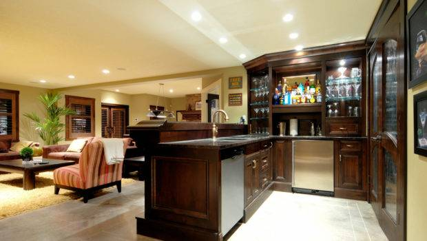 Shine Basement Decorating Ideas Eclectic Kitchen Design Brown