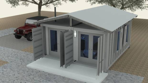 Shipping Container Cabin Concept Part Tiny House Design