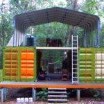 Shipping Container Cabin Woods