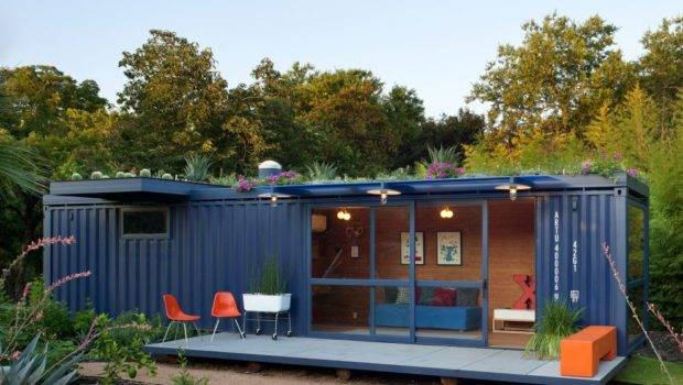 Shipping Container Homes Green Roof Home Texas