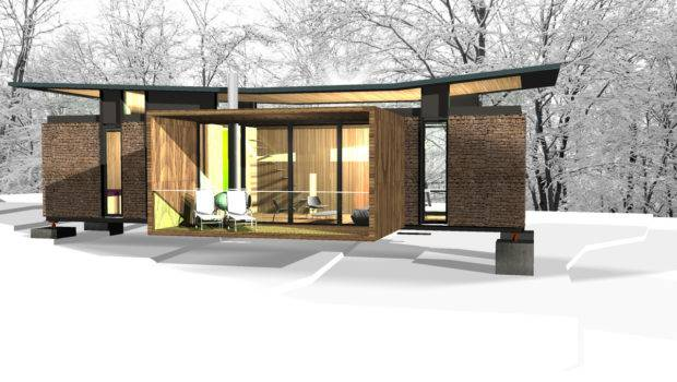 Shipping Container Mountain Cabin Alexander Papadias Archinect