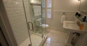 Shower Bathroom Small Sherwin Williams Hexagon Tile