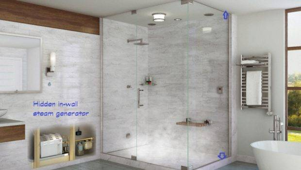 Shower Steam Generator Added Typical Enclosed