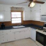 Side Kitchen Before After Painted Cabinets