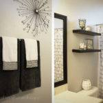 Silver Decors Were Used Small Bathroom Made Look