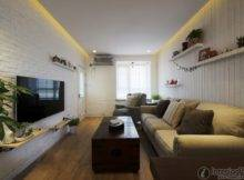 Simple Flat Small Apartment Living Room Decoration Effect