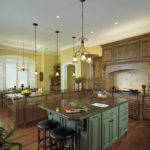 Simple Kitchen Layout Design Wooden Cabinets