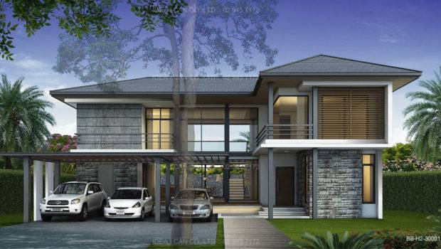Simple Modern Tropical House Design