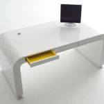 Simple Office Furniture White Computer Desk Three Drawers