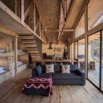 Simple Pine Wooden Shed Includes Spacious Living Room
