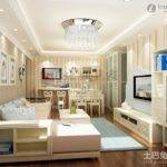 Simple Small Apartment Living Room Chandelier Decorations Design