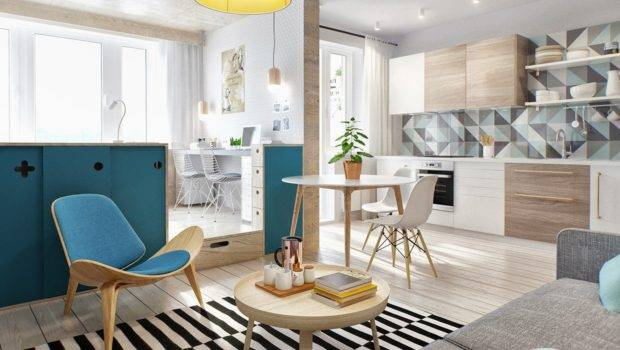 Simple Super Beautiful Studio Apartment Concepts Young Couple