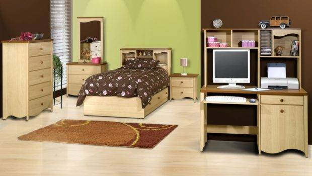 Single Bedroom Bed Dresser Bedside Table Small Desk