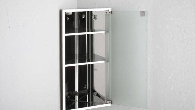 Single Door Frosted Glass Corner Bathroom Wall Storage Cabinet Ebay