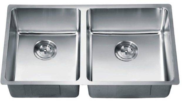 Sinks Stainless Steel Kitchen Sink Chrome Nickel Small Radius Double