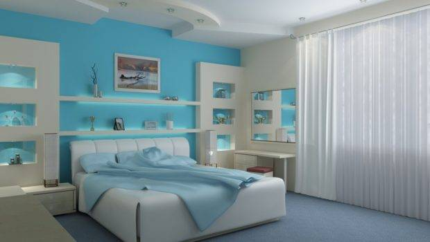 Sky Blue White Bedroom Home Advice Furniture