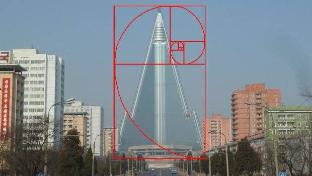 Skyscrapers Consisting Golden Ratio Perfectly Proportional