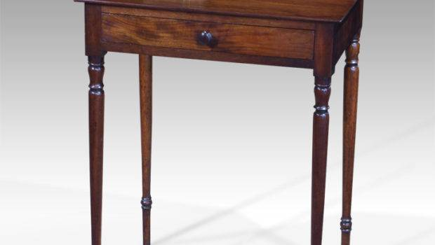Small Antique Side Table Square Georgian