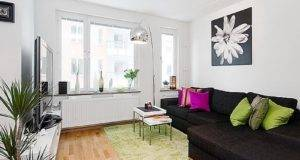 Small Apartment Living Room Ideas White