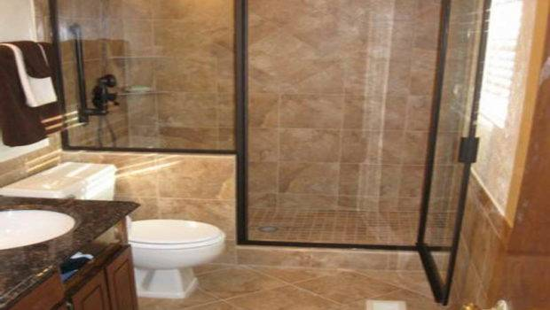 Small Bathroom Ideas Tile Glassy Door
