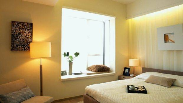 Small Bedroom Bay Window Decoration Design Effect Drawing