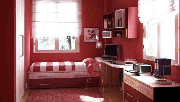 Small Bedroom Design Red Idea Home Furniture Ideas