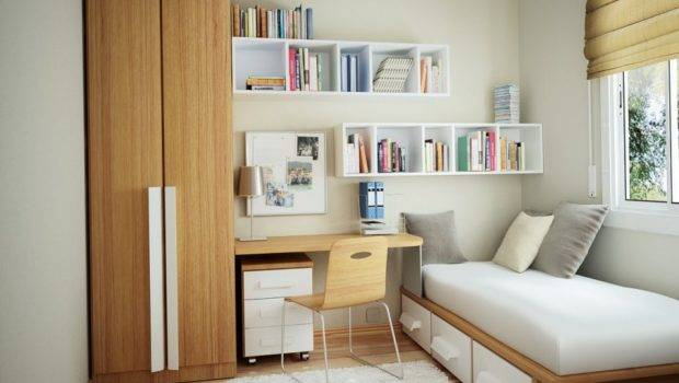 Small Bedrooms Storage Ideas Wooden Wardrobe