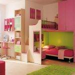 Small Bunk Beds Kids Storage Girl Bedroom Ideas