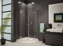 Small Corner Shower Enclosure Curved Stand