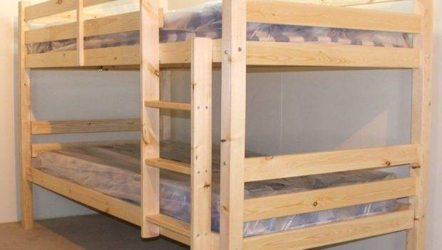 Small Double High Heavy Duty Pine Bunk Bed Strictly Beds