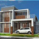Small Double Storied Contemporary House Plan Indian Plans