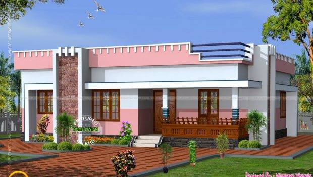 Small Flat Roof Home Interior Design Floor Plans House