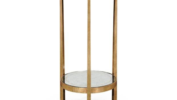 Small Glass Side Table Gold Swanky Interiors