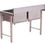 Small Hand Washing Double Kitchen Sink Stainless Steel