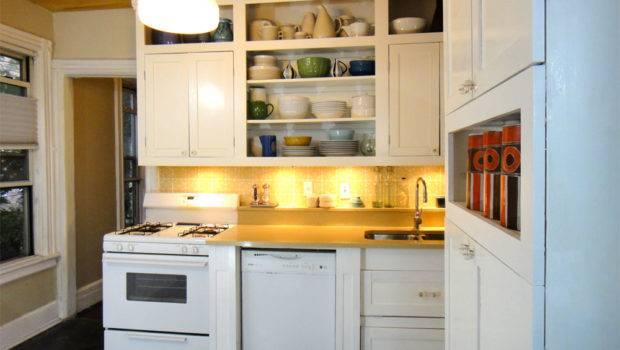 Small Kitchen Remodel Cabinets Counters Modern Design