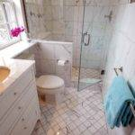 Small Marble Bathroom Transitional Wills Company