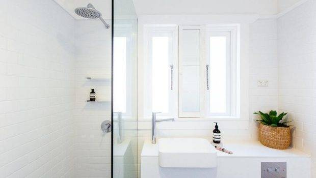 Small Modern Walk Shower Bathroom