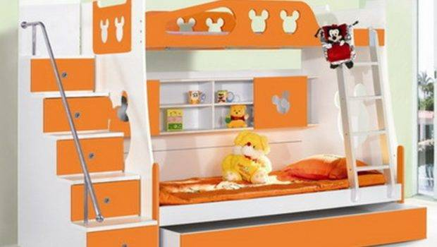 Small Room Bedroom Design Ideas Orange Bunk Bed