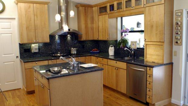Small Shaped Kitchen Designs Island Amys Office