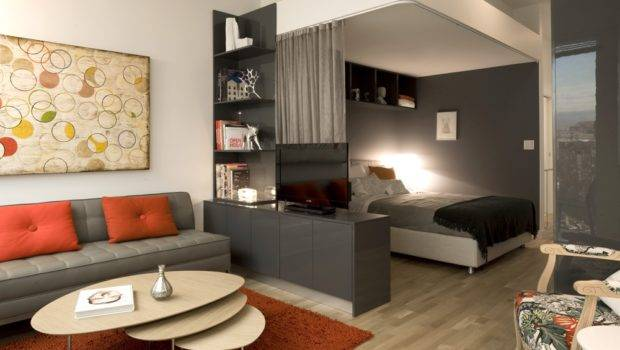 Small Spaces Ideas Simple Modern Grey Accents Living Room