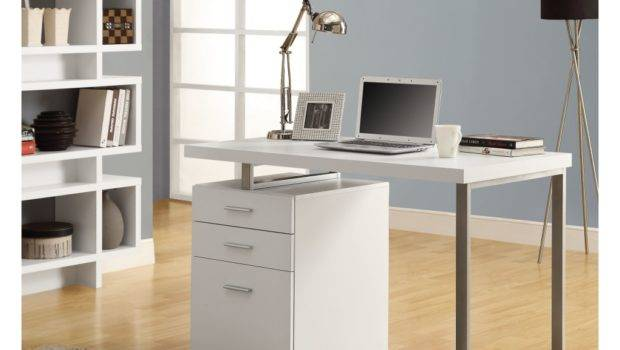 Small White Desk Drawers Home Office Furniture