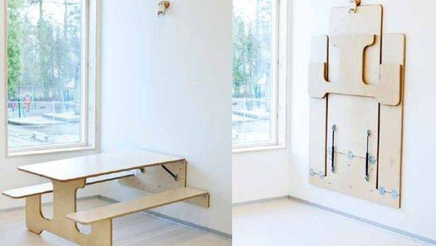 Smart Stylish Folding Furniture Pieces Small Spaces